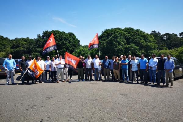 GMB call on Welwyn Hatfield Council for stronger licensing enforcement following strike at AAA Taxis