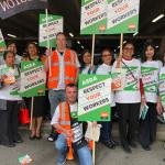 GMB present customer letters to Asda boss