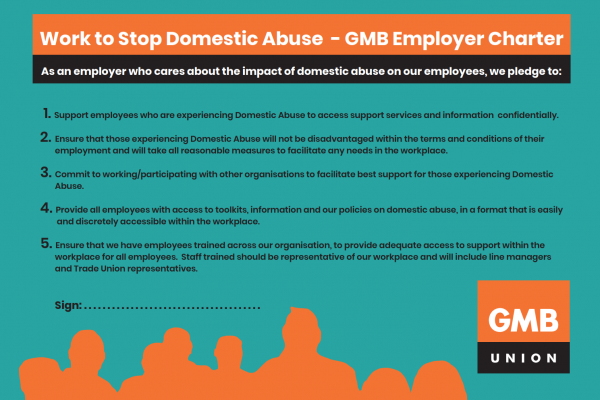 GMB London Region welcomes Milton Keynes Council's adoption of GMB's Domestic Abuse Charter