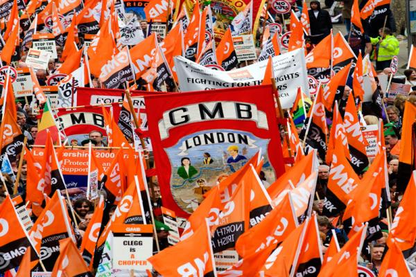 GMB hold protest after Engie announce wage cuts at Luton and Dunstable Hospital