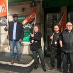 GMB members protest sacking of Amey electrician