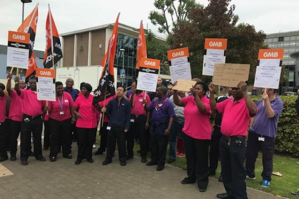 GMB Hospital workers protest with BBQ at North Middlesex hospital