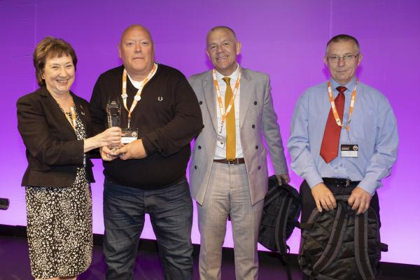 Norfolk resident receives runner-up prize for health and safety award at GMB Congress