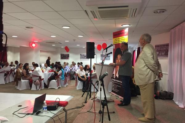 Mick Ainsley speaks at Labour Feltham and Heston