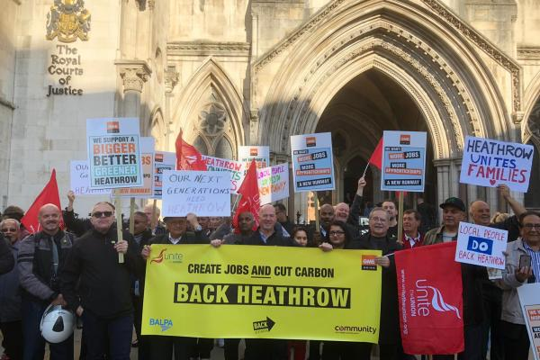GMB support Heathrow Airport expansion on eve of Appeal Court proceedings