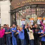 Hospital picnic protests spread to Hammersmith