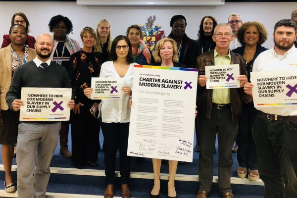 GMB support Enfield Council signing of Charter Against Modern Slavery
