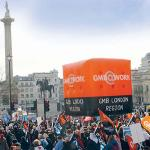 GMB London support TUC rally for 'a new deal for working people' on 12 May