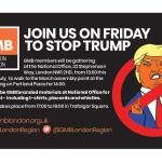 GMB support march against Trump visit